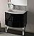 39 inch Modern Floating Bathroom Vanity Black Glossy Finish