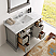 """Fresca Kingston Collection 49"""" Silver Grey Traditional Bathroom Vanity in Faucet Option"""