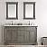 60 inch Antique Silver Double Sink Bathroom Vanity Mirror