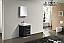 24 inch Black Finish Modern Bathroom Vanity