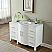 54 inch Single Sink Bathroom Vanity White Finish Carrara Marble Top