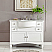45 inch Double Sink Contemporary White Bathroom Vanity Carrara Marble Top