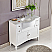 45 inch Double Contemporary Bathroom Vanity Carrara Marble Top
