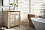 30 inch Antique Single Bathroom Vanity Vintage Vanilla Finish White Quartz Top