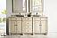 72 inch Antique Double Sink Bathroom Vanity Vanilla Finish