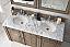 72 inch Antique Double Sink Bathroom Vanity Walnut Finish