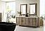 72 inch Double Sink Bathroom Vanity Walnut Finish