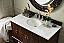 48 inch Single Bathroom Vanity Dark Amber Finish