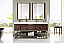 72 inch Double Bathroom Vanity Oak Finish with Integrated Sink Top