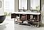 72 inch Double Bathroom Vanity Coffee Oak Finish Integrated Sink Top