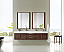 72 inch Wall Mounted Double Vanity Coffee Oak Finish
