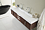 72 inch Wall Mounted Double Bathroom Vanity Oak Finish