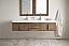 72 inch Wall Mounted Double Vanity Latte Oak Finish