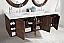 72 inch Floating Double Sink Vanity Coffee Oak Finish