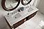 72 inch Floating Double Bathroom Vanity Coffee Oak Finish