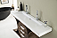73 inch Modern Rustic Bathroom vanity Olive Ash Eclipse Finish Sink Top