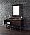 60 inch Single Bathroom Vanity Antique Walnut Finish Birch with Oak Veneer
