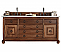 72 inch Double Sink Bathroom Vanity Cinnamon Finish Optional Countertop