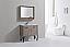 36 inch Nature Wood Modern Bathroom Vanity Quartz Top and Matching Mirror