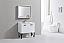 "Modern Lux 36"" High Gloss White Bathroom Vanity w/ Quartz Countertop and Matching Mirror"