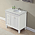 36 inch Transitional Bathroom Vanity White Finish Marble Top