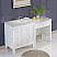 67 inch Transitional Bathroom Vanity White Finish Marble Top