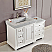 56 inch Bath Vanity White Finish Integrated Marble Sink
