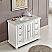 48 inch Bathroom Vanity Single Sink Cabinet White Finish Carrara Marble Top