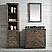 36 inch Rustic Finish Bathroom Vanity Moon Stone Countertop