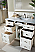 """James Martin Bristol Collection 48"""" Single Traditional Vanity, Cottage White"""