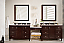 "Issac Edward Encore 122"" Double Vanity Set, Burnished Mahogany with Makeup Table front"