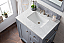 "Issac Edwards Collection 30"" Single Vanity, Silver Grey with 3CM top options top2"