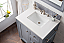 "Issac Edwards Collection 30"" Single Vanity, Silver Grey with 3CM top options top3"