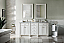 72 inch Double Sink Bathroom Vanity Cottage White finish, top optional front