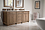 72 inch Modern Traditional Double Sink Bathroom Vanity Whitewash Walnut finish, top optional front