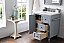 """Isaac Edwards Collection 30"""" Single Vanity, Silver Gray"""
