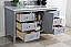 """Isaac Edwards Collection 60"""" Single Vanity, Silver Gray"""