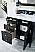 "Isaac Edwards Collection36"" Single Vanity, Black Onyx"