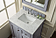 "Isaac Edwards Collection 30"" Single Vanity, Silver Gray"
