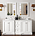 "Isaac Edwards Collection 72"" Double Vanity, Bright White"