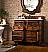"Isaac Edwards Collection 41"" Single Vanity, English Burl"