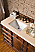 "Isaac Edwards Collection 71"" Double Bathroom Vanity, English Burl"