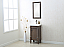 """Dora Soo Collection 18"""" Weathered Gray Sink Vanity - No Faucet"""
