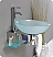 """Fresca Cristallino Collection 18"""" Modern Glass Bathroom Vanity with Faucet and Cabinet Option"""