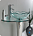"Fresca Netto Collection 24"" Modern Glass Wavy Edge Vessel Sink with Faucet and Cabinet Option"