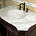 The Bella Collection 34.6 inch Single Sink Vanity Wood Walnut Cream Marble
