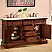 SilkRoad Exclusive Double Sinks Bathroom Vanity