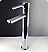 """Fresca Quadro Collection 23"""" White Pedestal Sink Modern Bathroom Vanity with Medicine Cabinet, Faucet and Linen Cabinet Option"""
