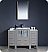 "Fresca Torino 48"" Grey Modern Bathroom Vanity with Faucet and Linen Side Cabinet Option"