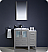 """Fresca Torino 36"""" Modern Bathroom Vanity with Color, Faucet and Linen Side Cabinet"""